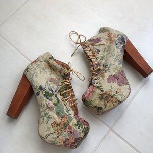 Jeffrey Campbell Lita Fab Tapestry Booties